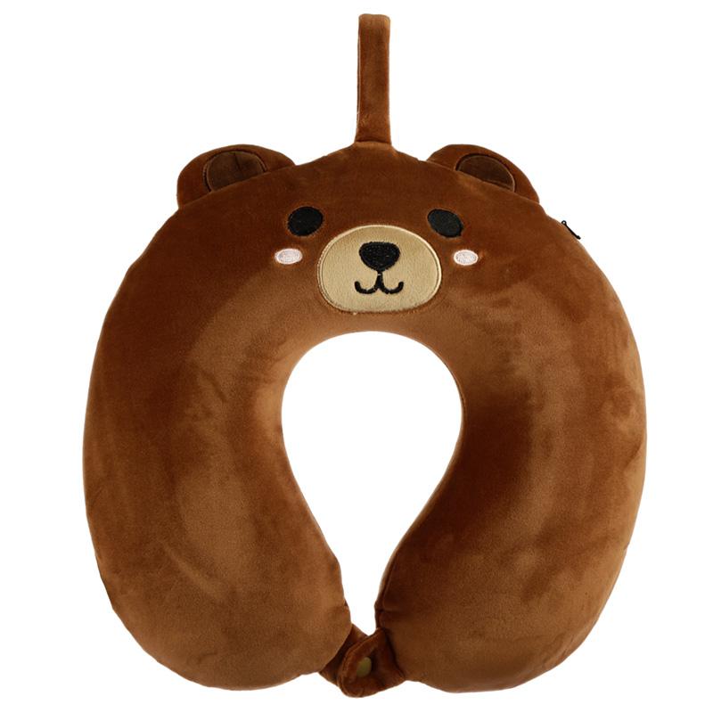 Cutiemals Bear Relaxeazzz Plush Memory Foam Travel Pillow