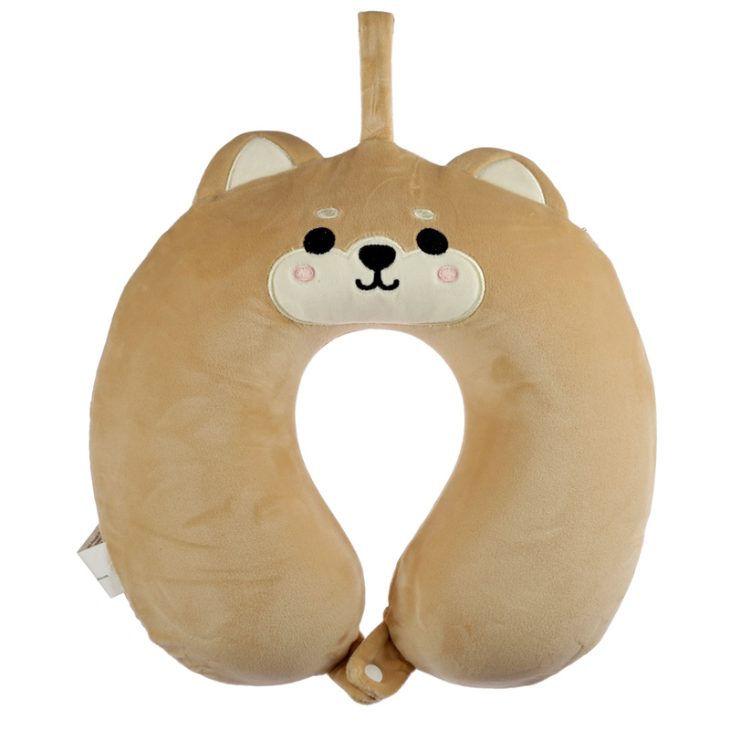 Shiba Inu Dog Relaxeazzz Plush Memory Foam Travel Pillow