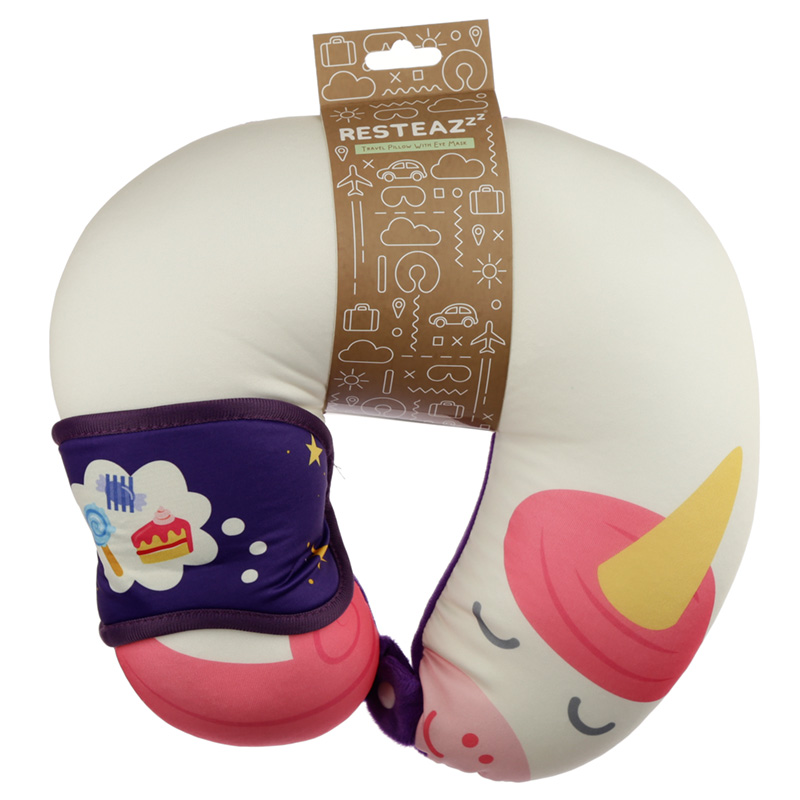 Unicorn Sweet Dreams Relaxeazzz Travel Pillow  Eye Mask Set