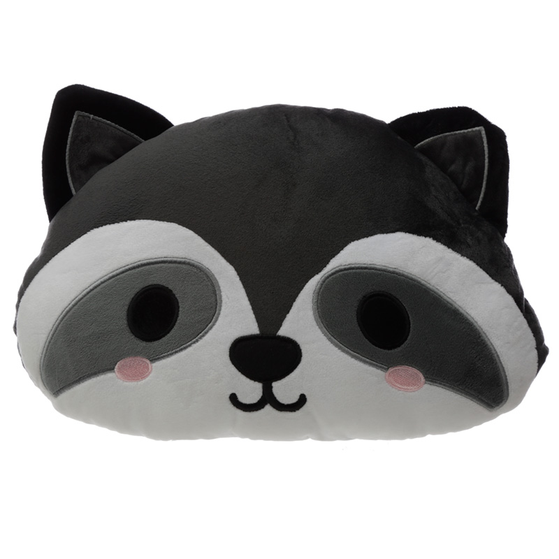 Plush Cutiemals Raccoon Cushion