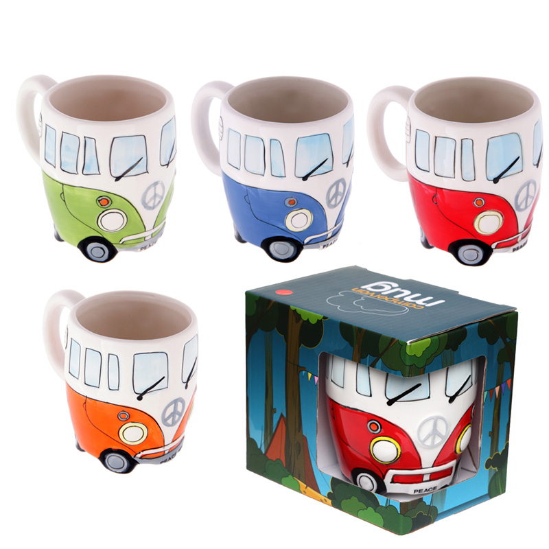 Funky Novelty Camper Van Design Ceramic Mug