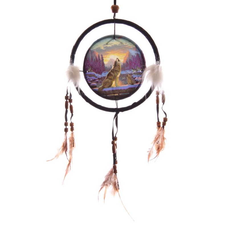 Decorative Howling at the Sunset 16cm Dreamcatcher