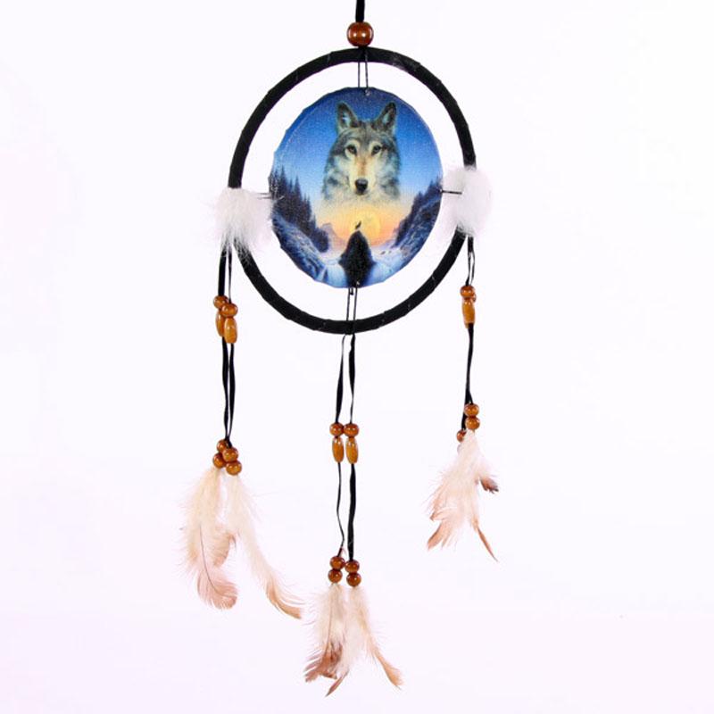 Decorative Cosmic Wolf Spirit in the Sky 16cm Dreamcatcher
