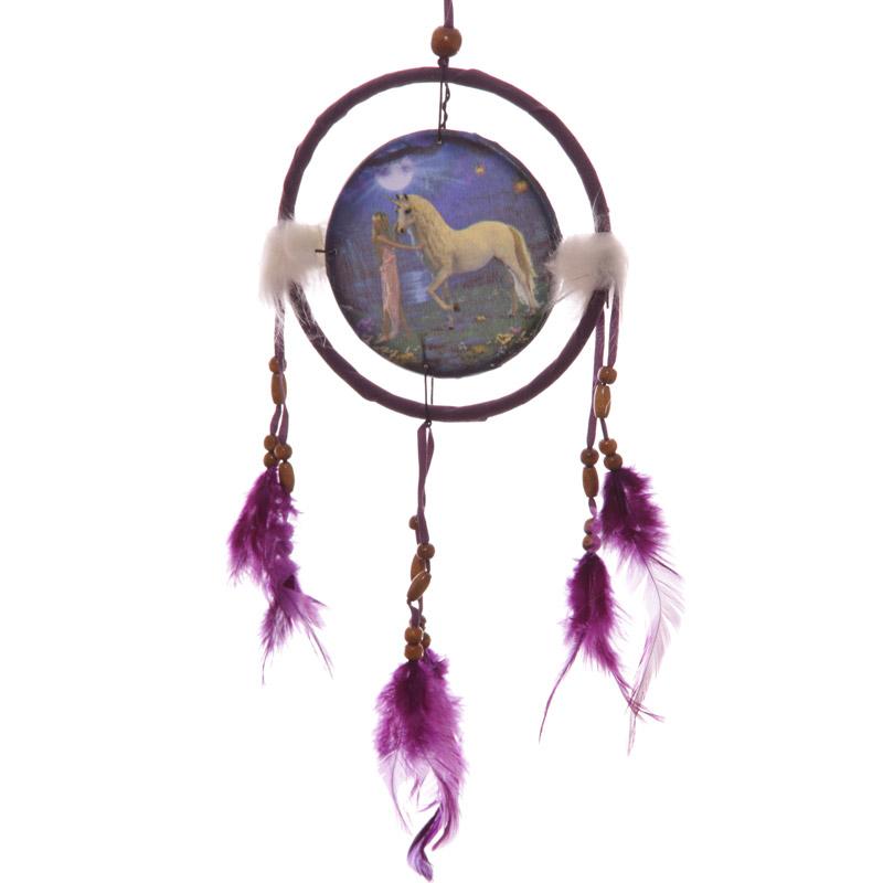 Decorative Fantasy Unicorn Garden 16cm Dreamcatcher