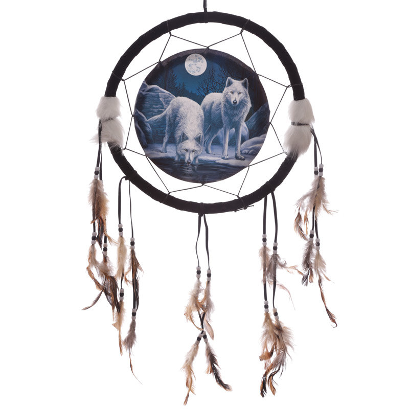 Decorative Wolf Warriors of Winter 33cm Dreamcatcher