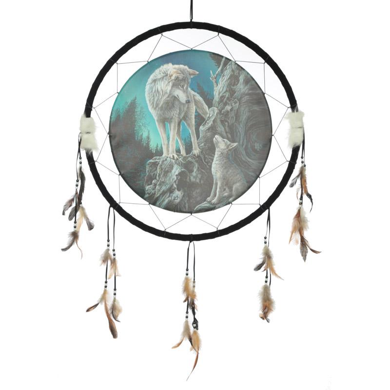 Decorative Wolf Design Dreamcatcher Large