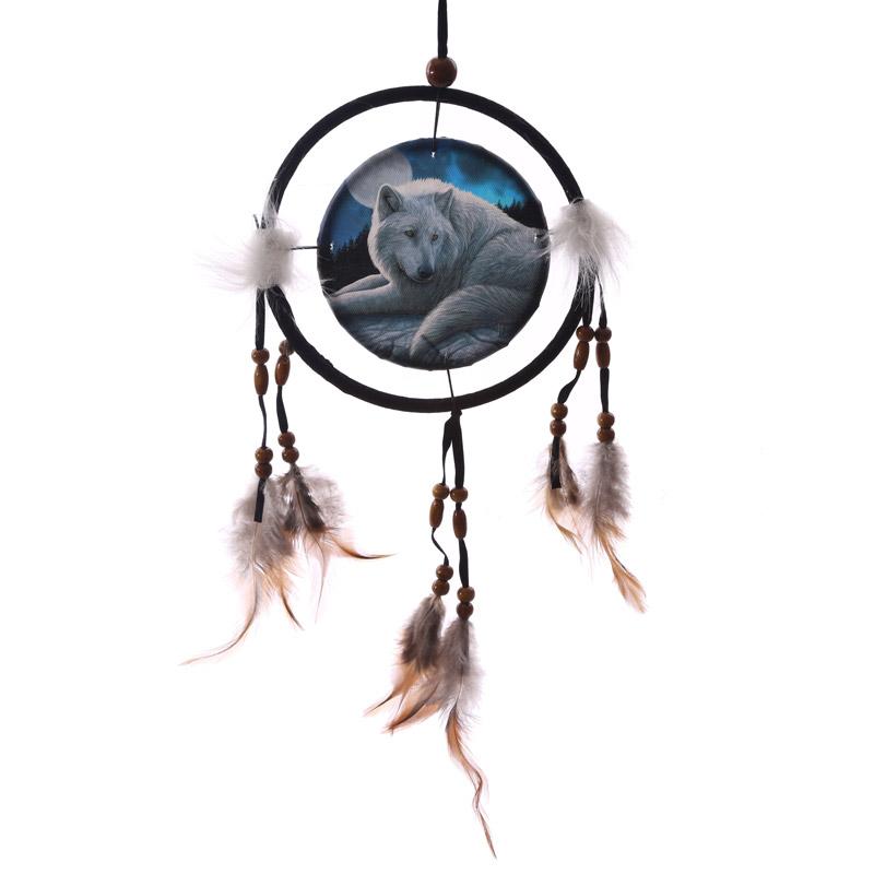 Decorative Guardian Wolf 16cm Dreamcatcher