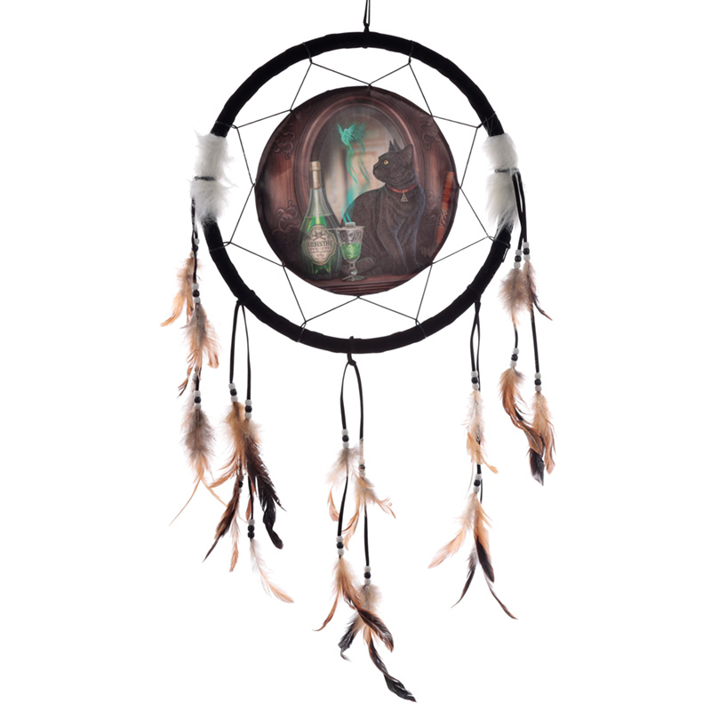 Decorative Lisa Parker Absinthe Cat Dreamcatcher Medium
