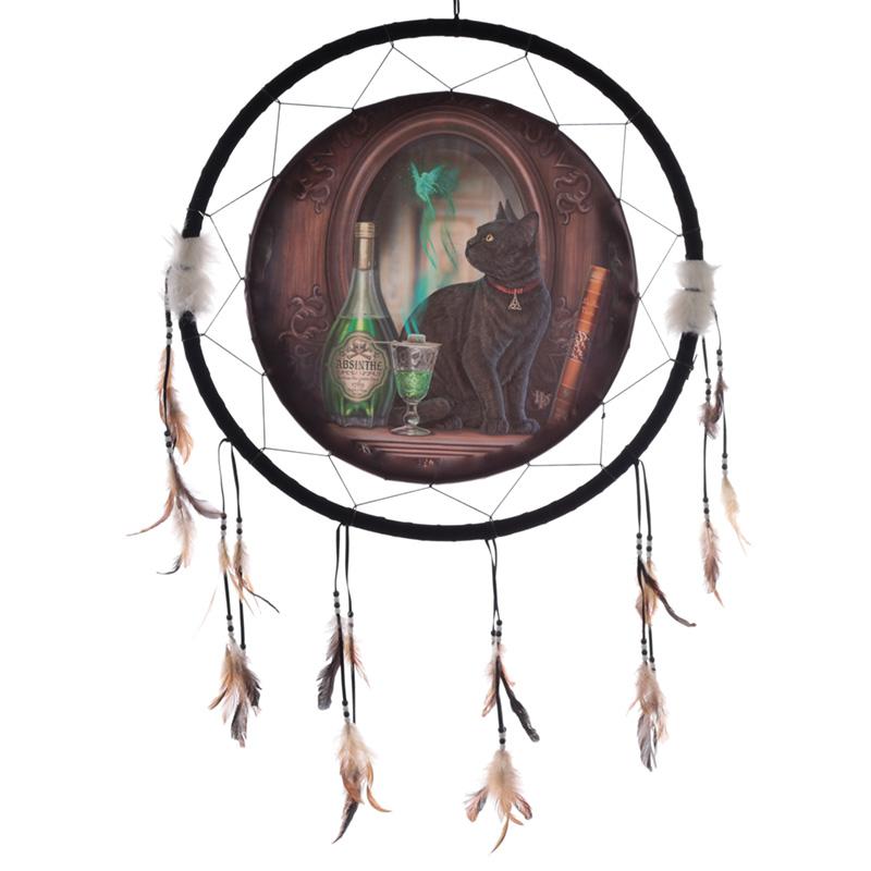 Decorative Lisa Parker Absinthe Cat Dreamcatcher Large
