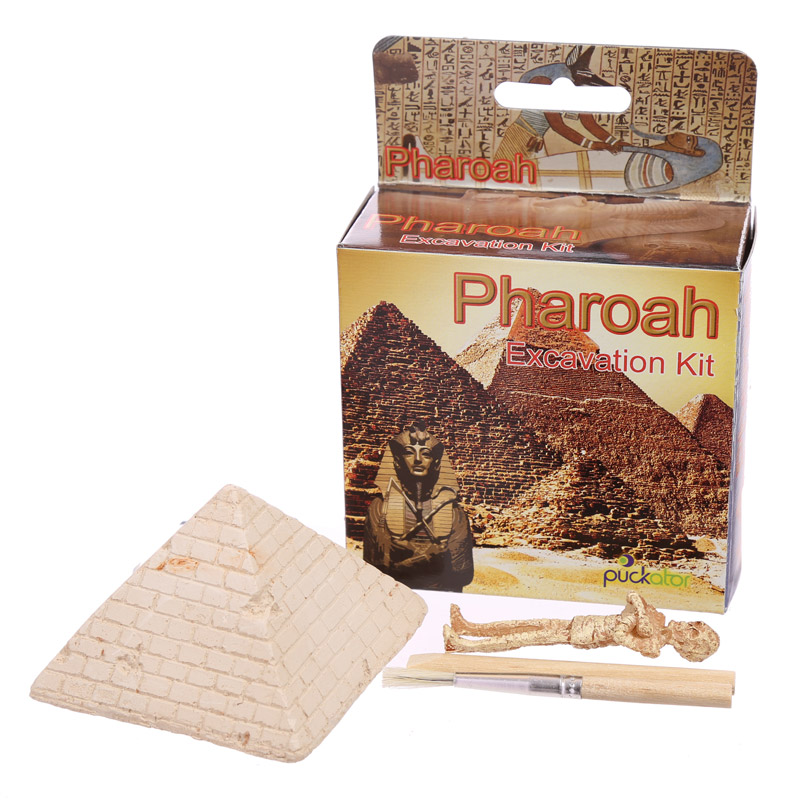 Fun Kids Mummy and Pyramid Egyptian Dig it Out Kit, Educational Toys