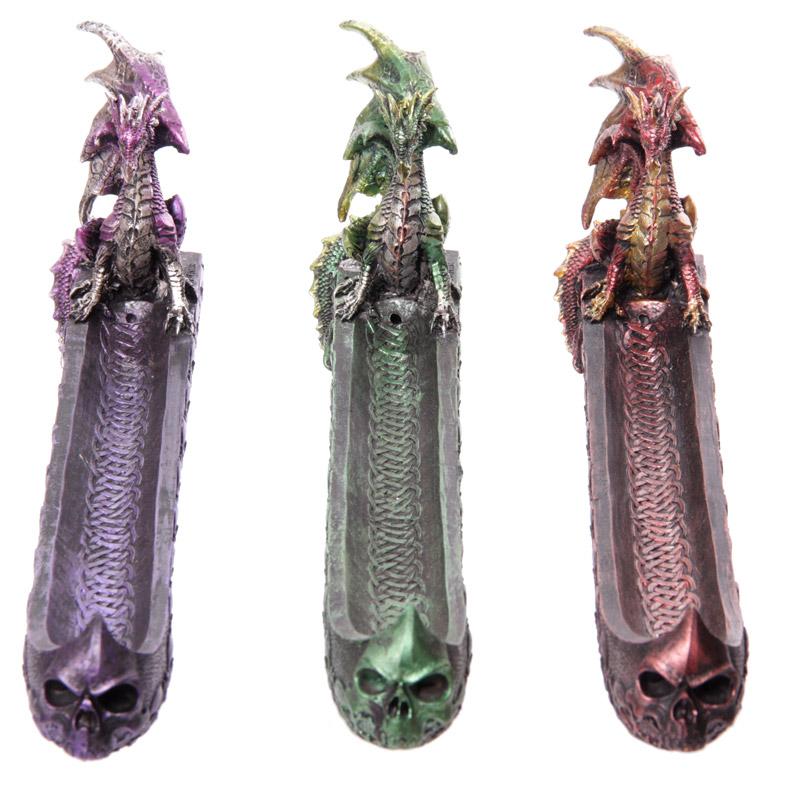 Dark Legends Dragon Incense Ashcatcher Boat
