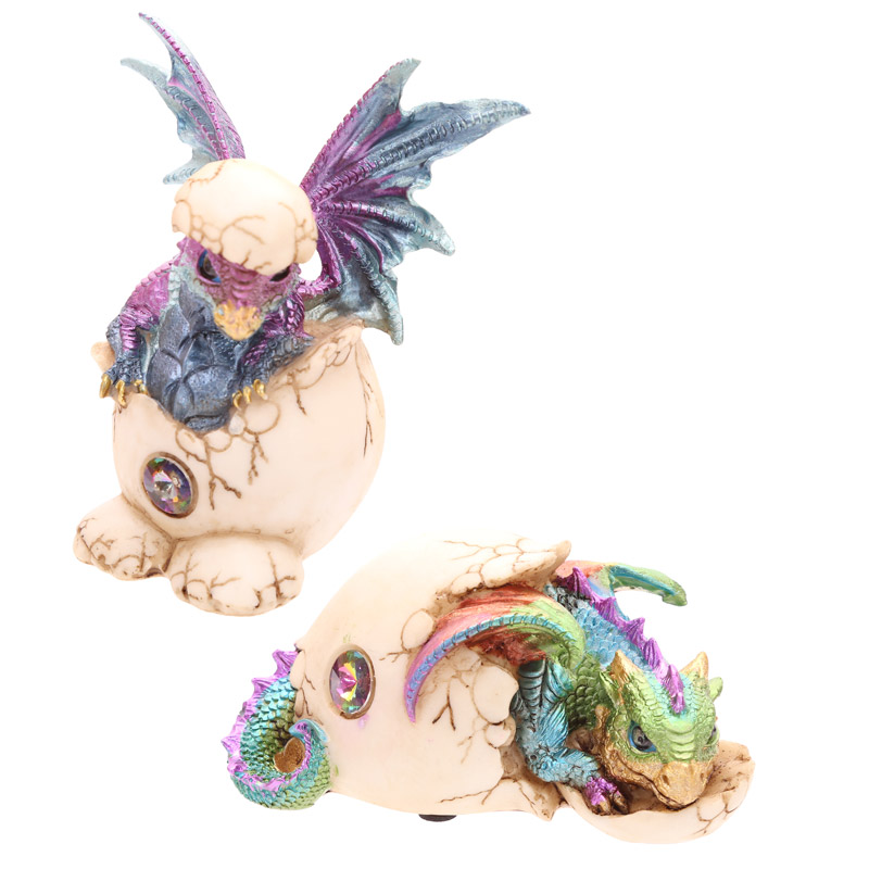 Cute Hatching Baby Dragon Figurine