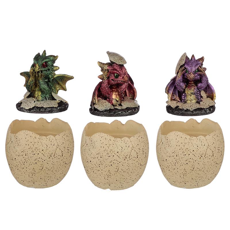 Hatching Elements Dragon Egg Trinket Box