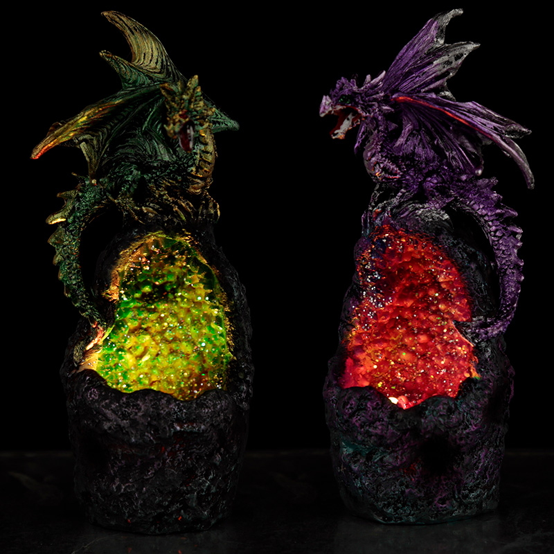 Crystal Cavern LED Dark Legends Dragon Figurine