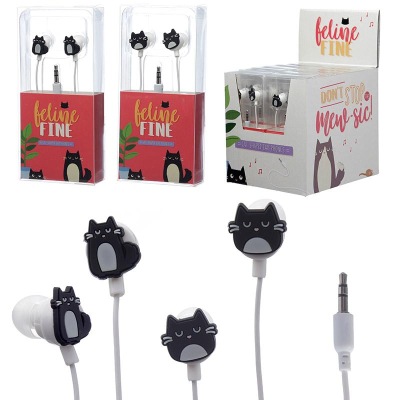Funky Earphones Cat Design