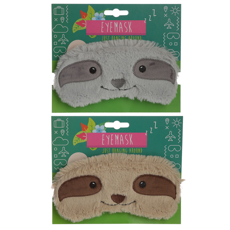 Fun Eye Mask Plush Sloth Design