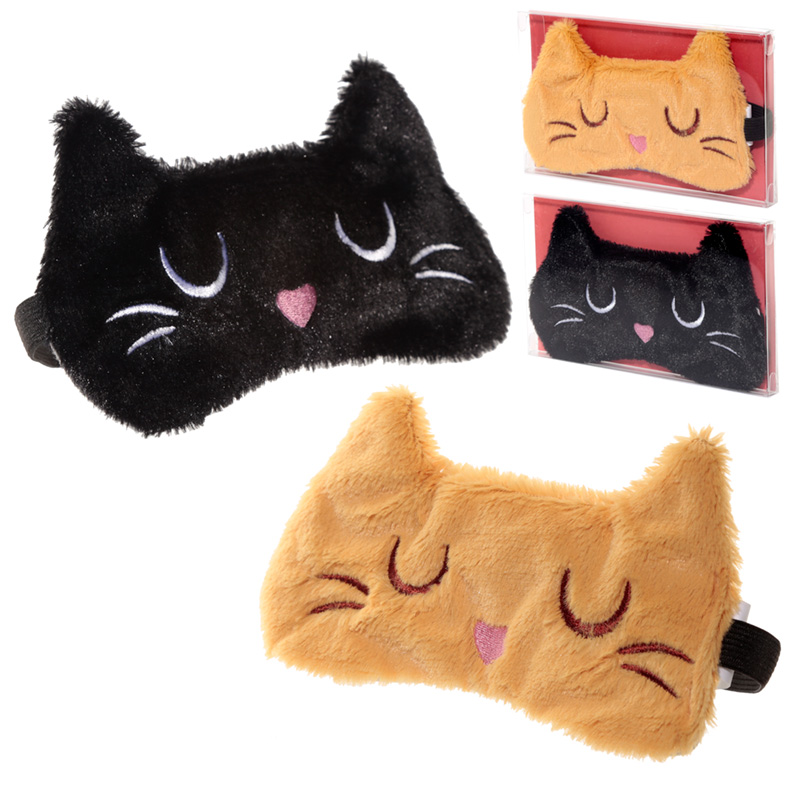 Fun Eye Mask Plush Feline Fine Cat Design