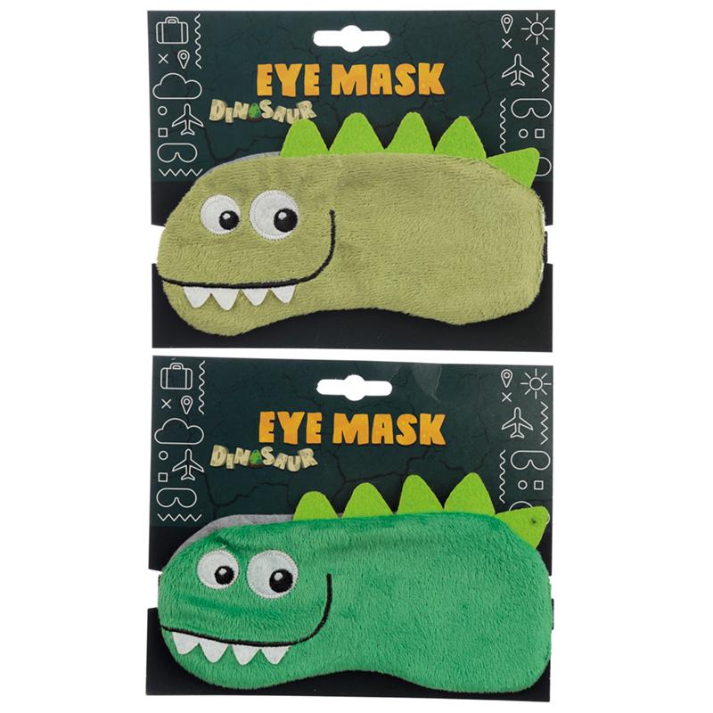 Fun Eye Mask Plush Dinosaur Design
