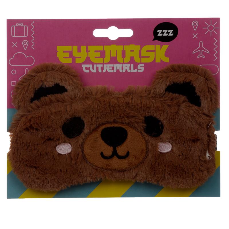 Fun Eye Mask Plush Bear