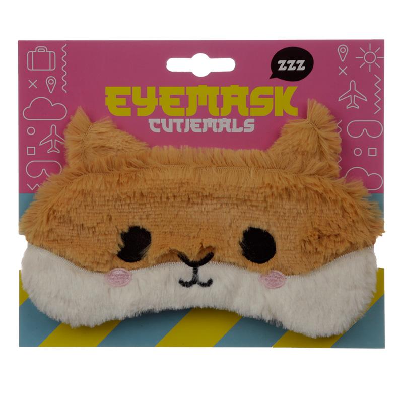Fun Eye Mask Plush Hamster