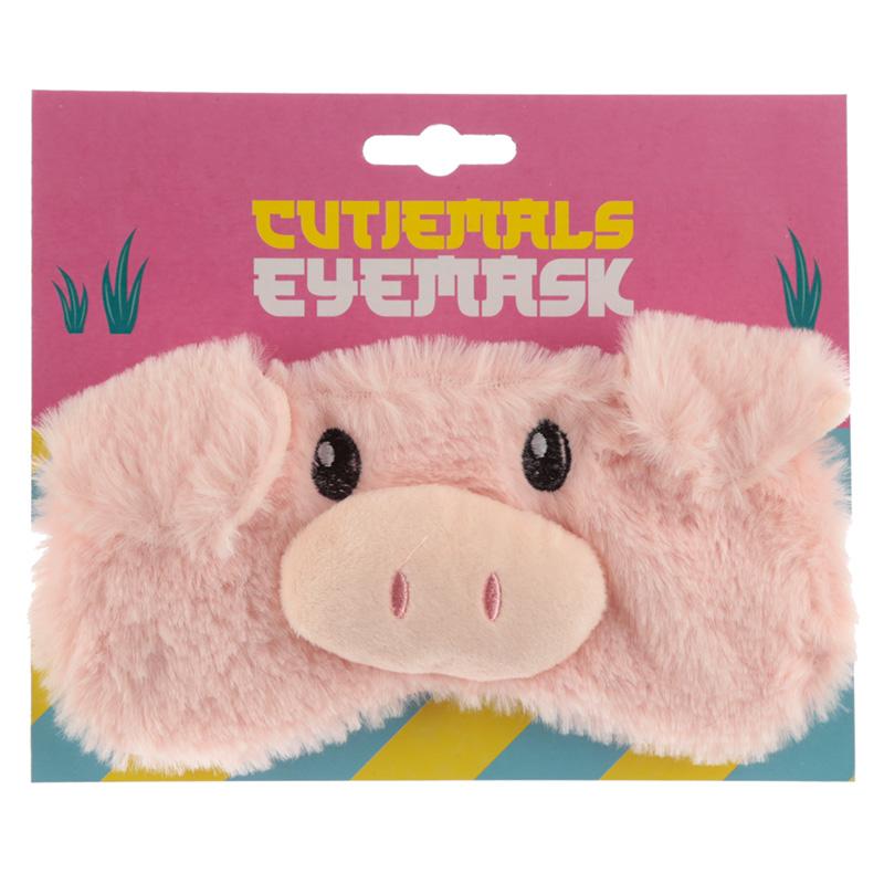 Fun Eye Mask Plush Cutiemals Pig