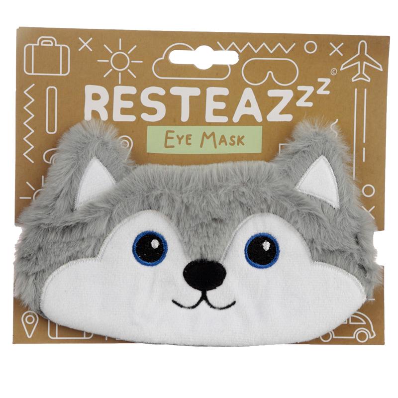 Fun Eye Mask Plush Husky Dog