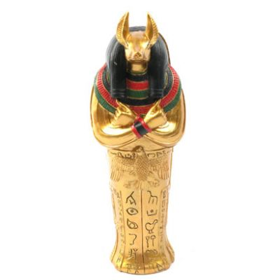 Decorative Gold Egyptian Anubis Sarcophagus Trinket Box