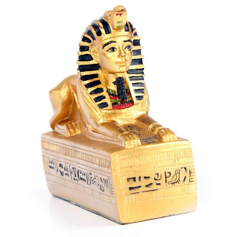 Decorative Gold Egyptian Sphinx Figurine