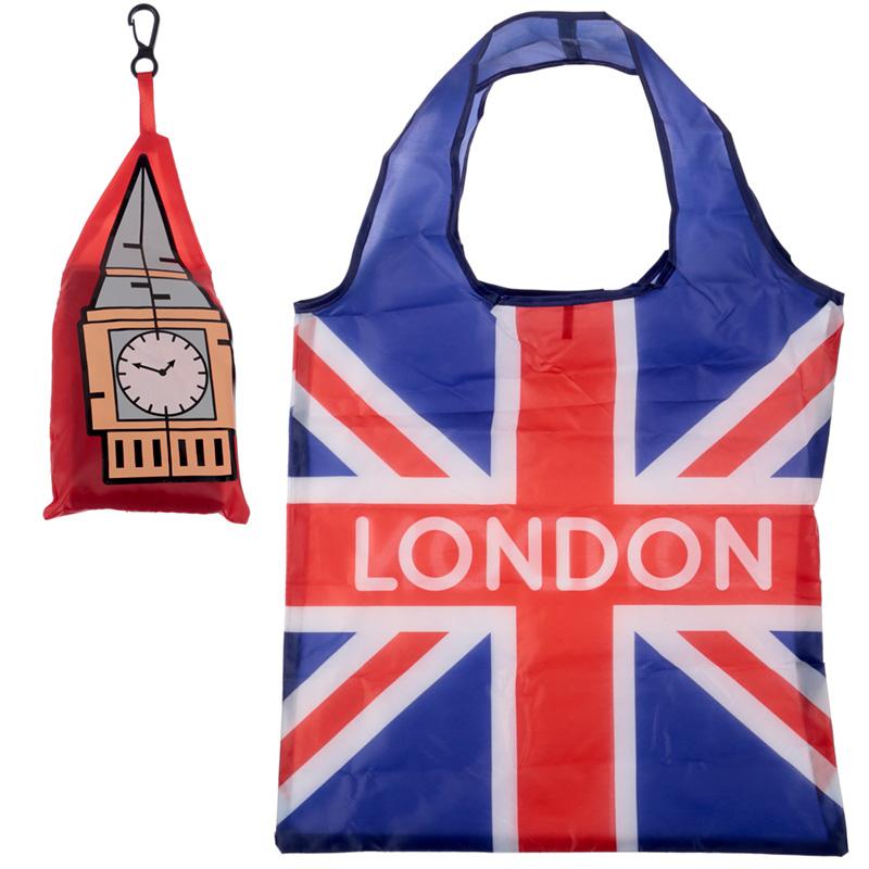 Handy Fold Up Big Ben London Shopping Bag with Holder