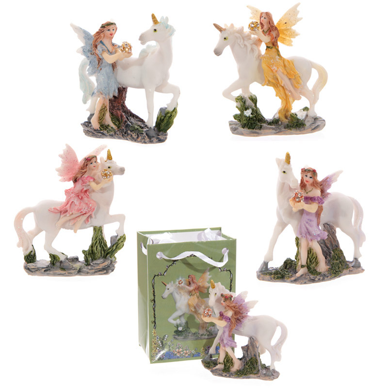 Glitter Flower Fairy Figurine in a Mini Gift Bag