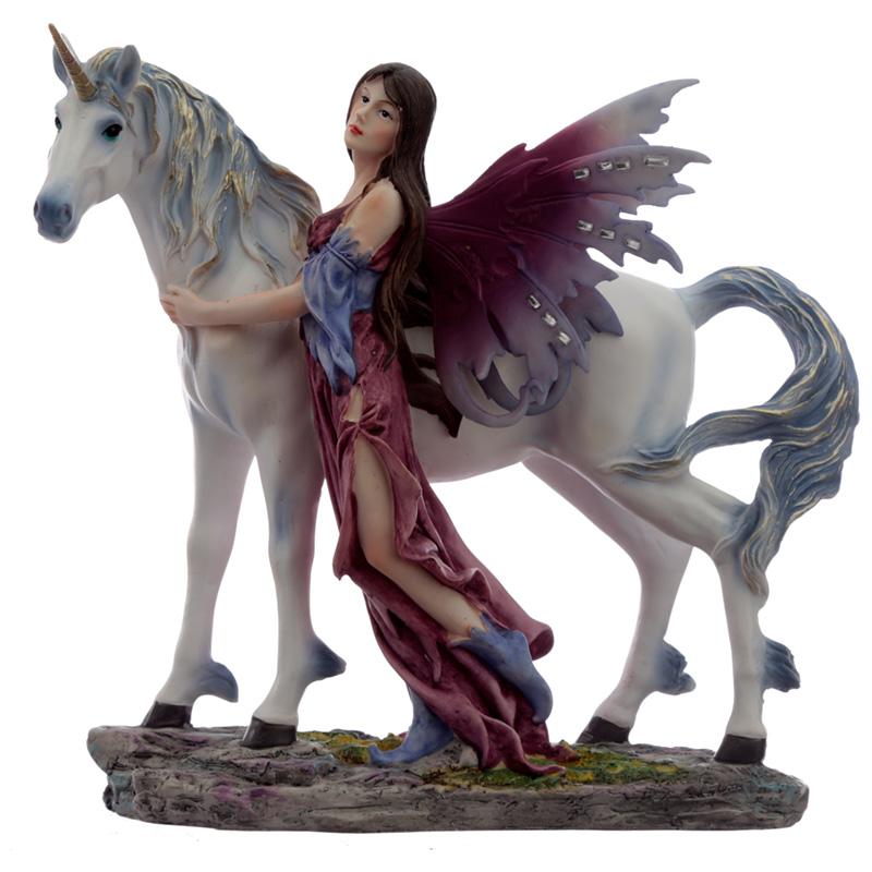Mystical Friendship Spirit of the Forest Fairy Figurine