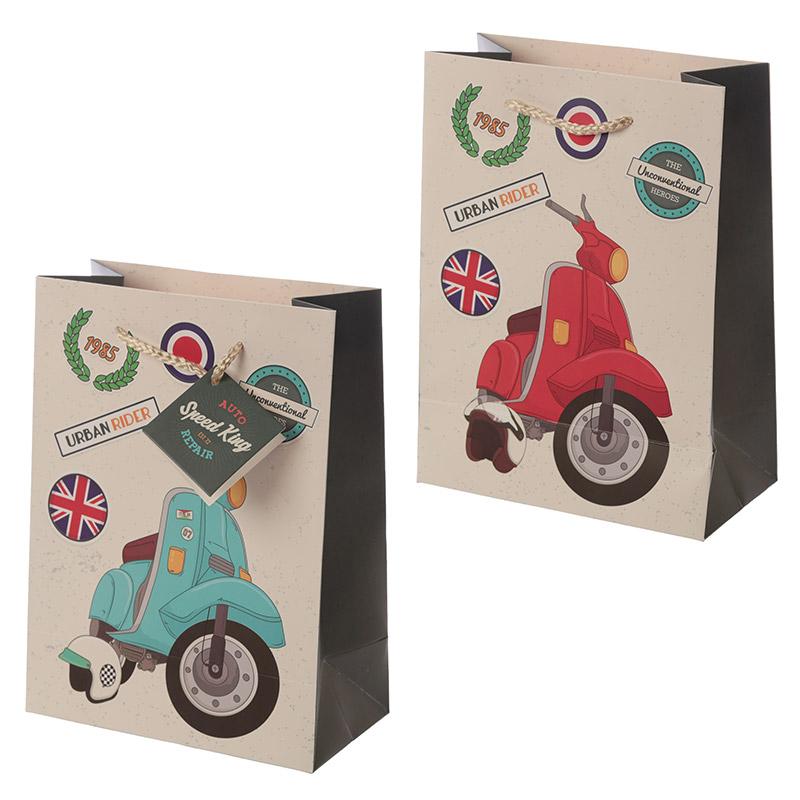 Novelty Scooter Design Medium Gift Bag