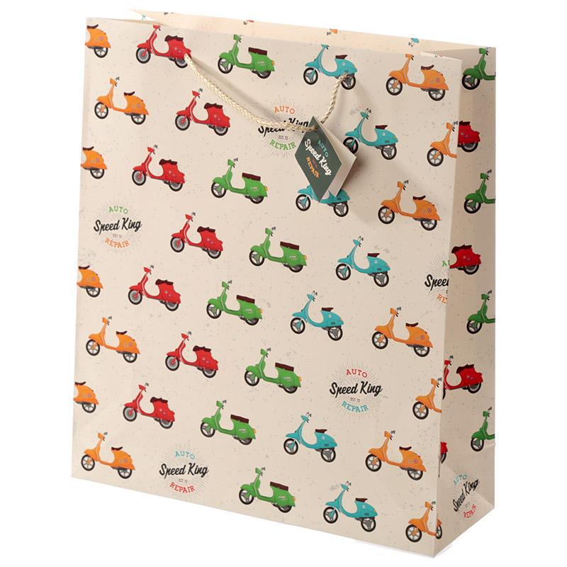 Novelty Scooter Design Extra Large Gift Bag