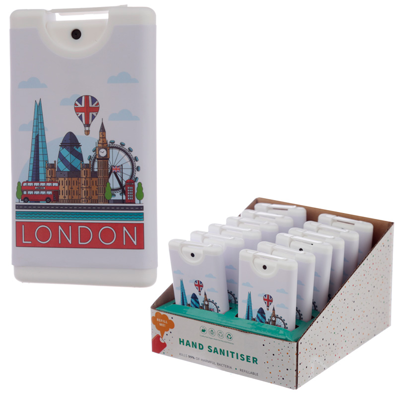 London Icons Design Spray Hand Sanitiser