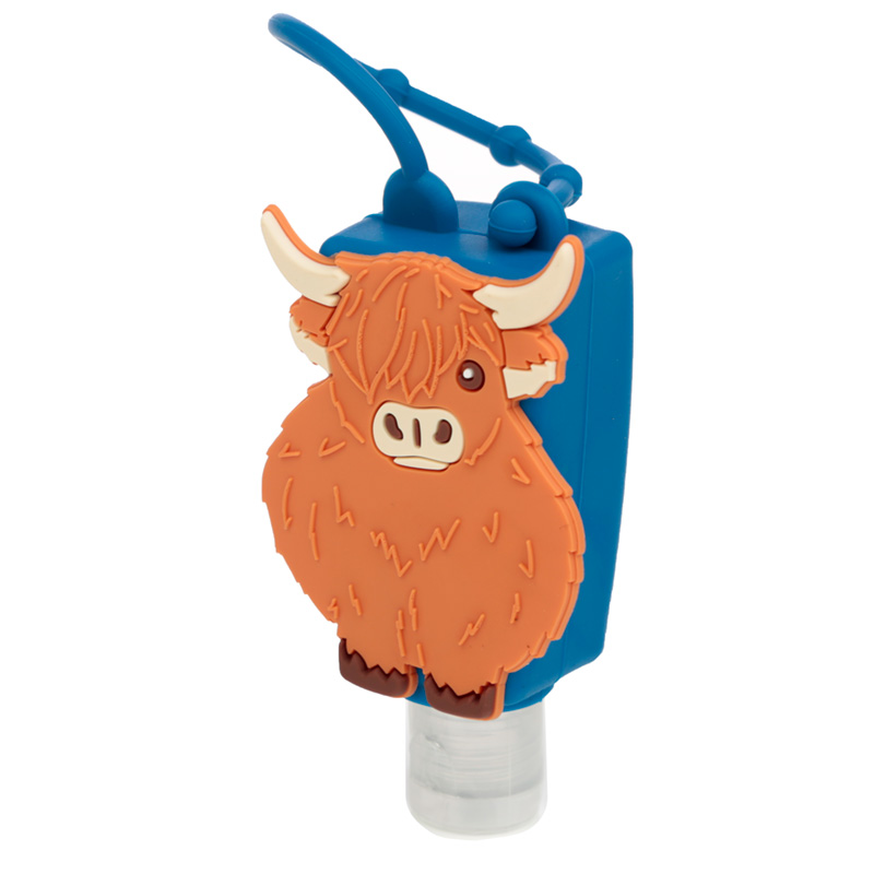 Highland Coo Cow Gel Hand Sanitiser and Holder