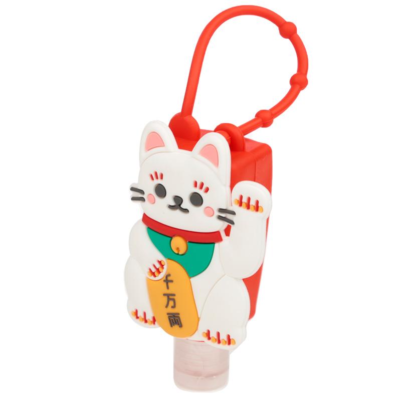 Maneki Neko Lucky Cat Gel Hand Sanitiser and Holder