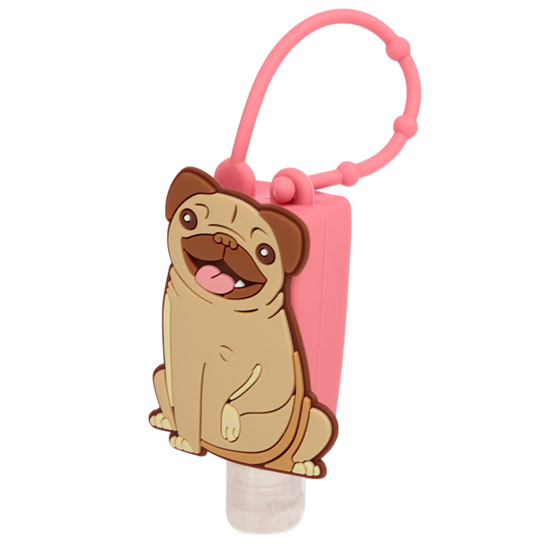 Mopps Pug Gel Hand Sanitiser and Holder
