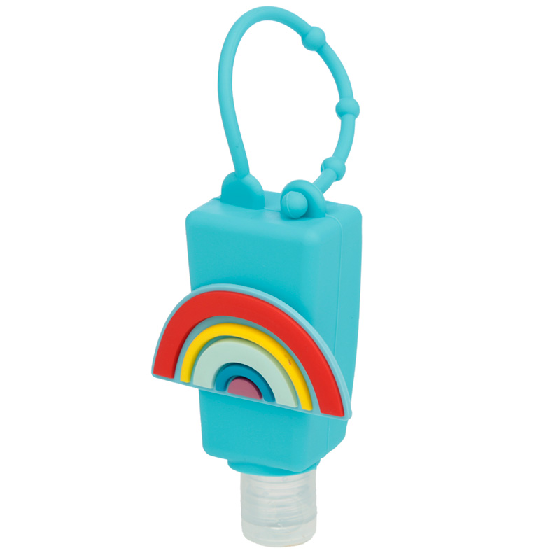 Rainbow Gel Hand Sanitiser and Holder