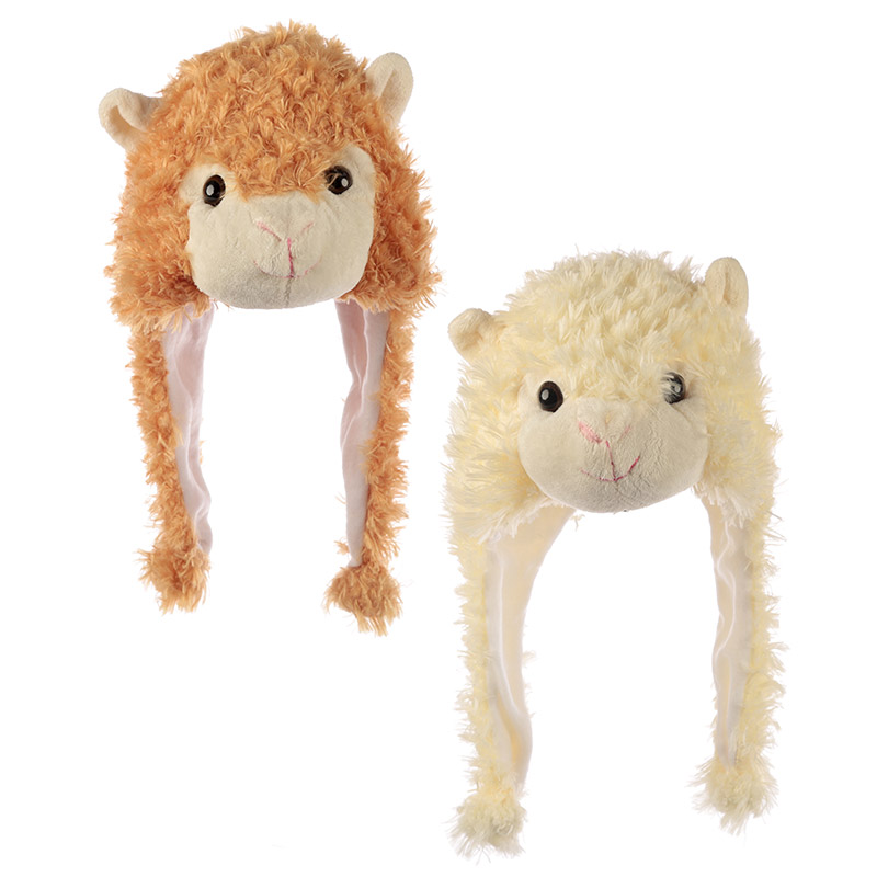 Fun Plush Llama Hat One Size