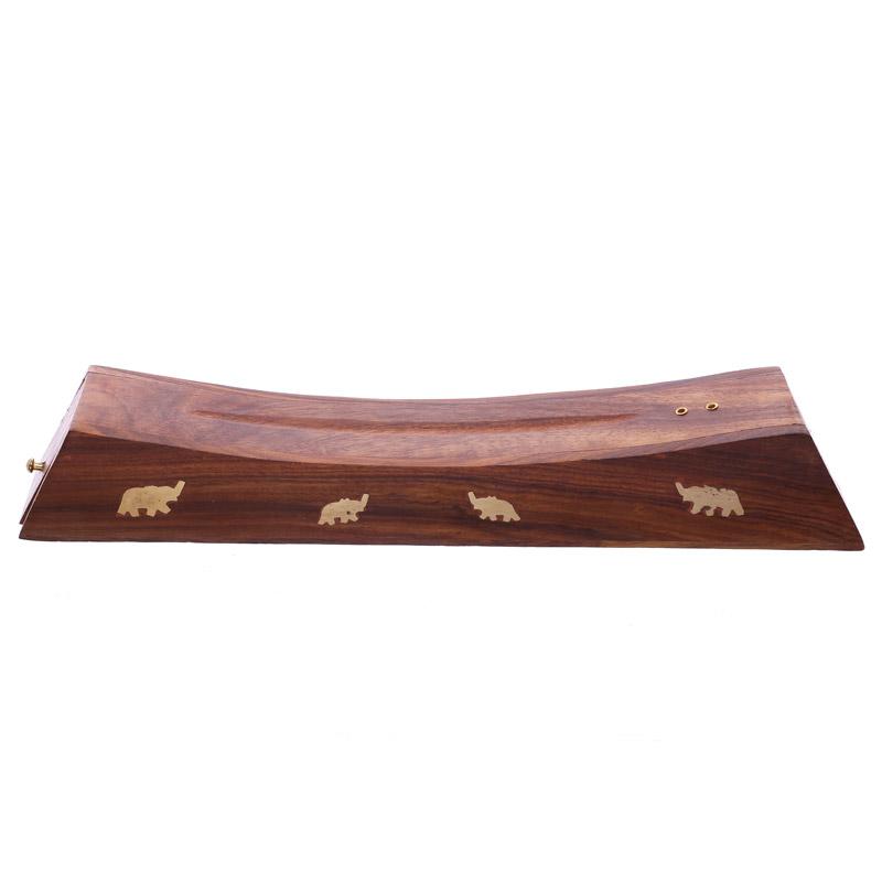Decorative Sheesham Wood Incense Stick Elephant Box