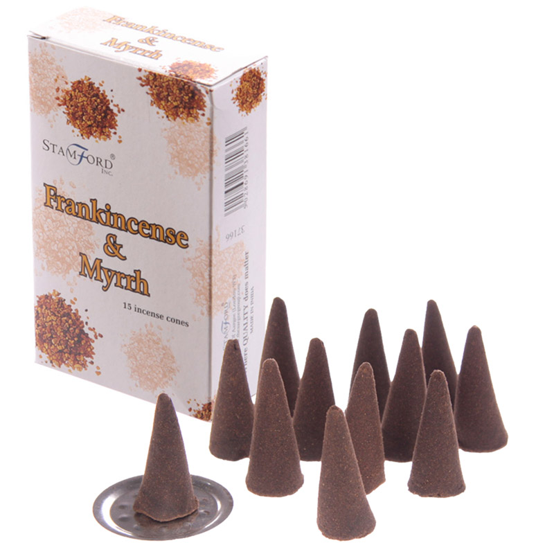 Stamford Hex Incense Cones Frankincense and Myrrh