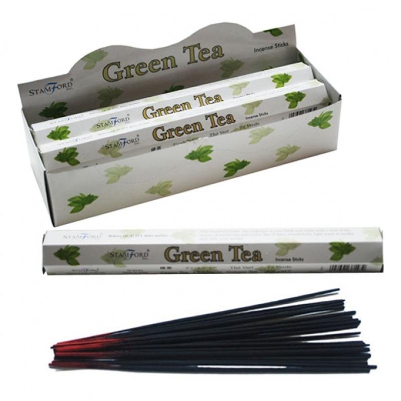 Stamford Hex Incense Sticks Green Tea