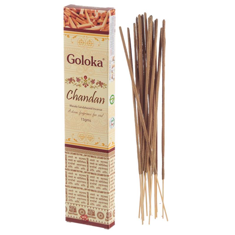 Goloka Masala Incense Sticks Chandan Sandalwood