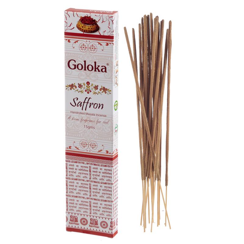 Goloka Masala Incense Sticks Saffron