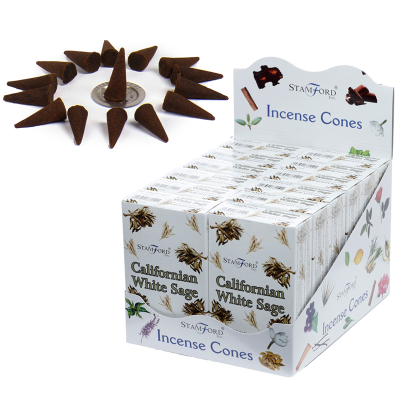 Stamford Hex Incense Cones Californian White Sage
