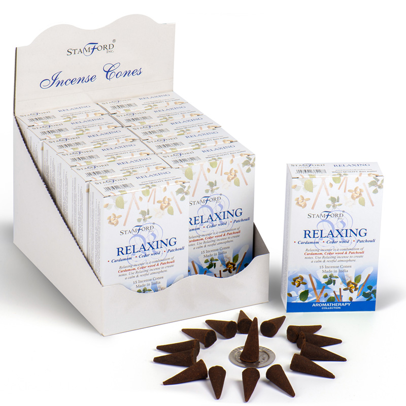 Stamford Hex Incense Cones Relaxing