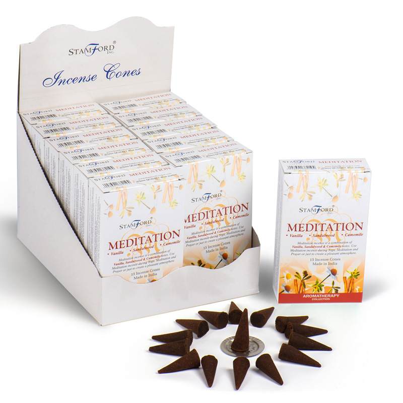 Stamford Hex Incense Cones Meditation