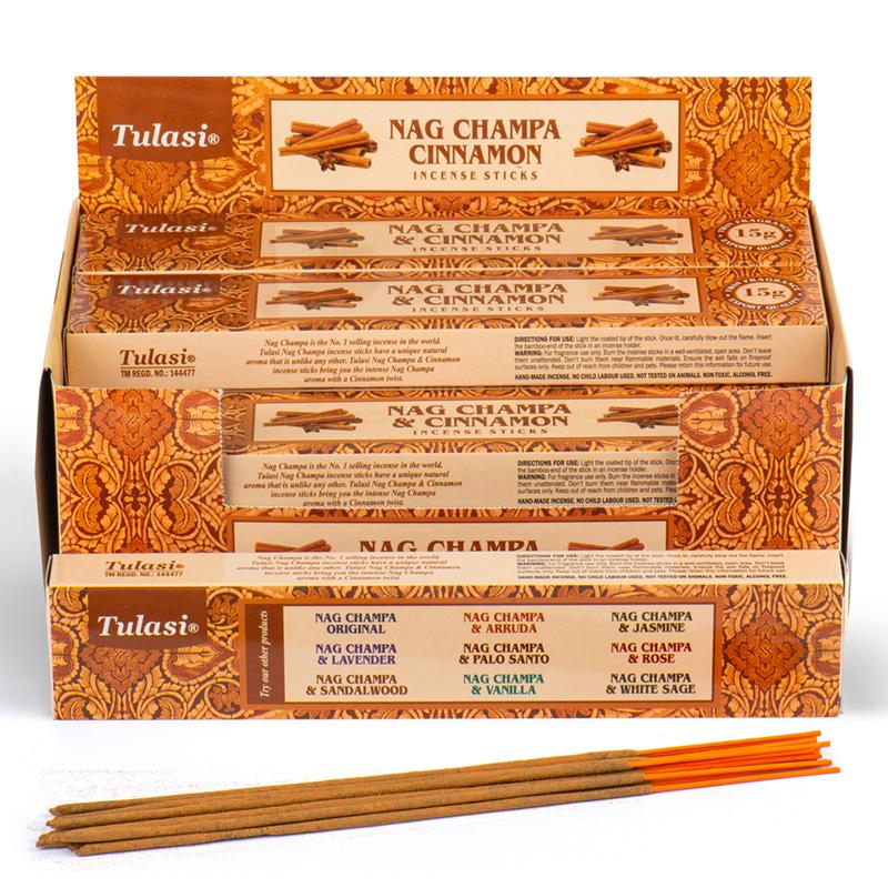Nag Champa Tulasi Incense Sticks Cinnamon