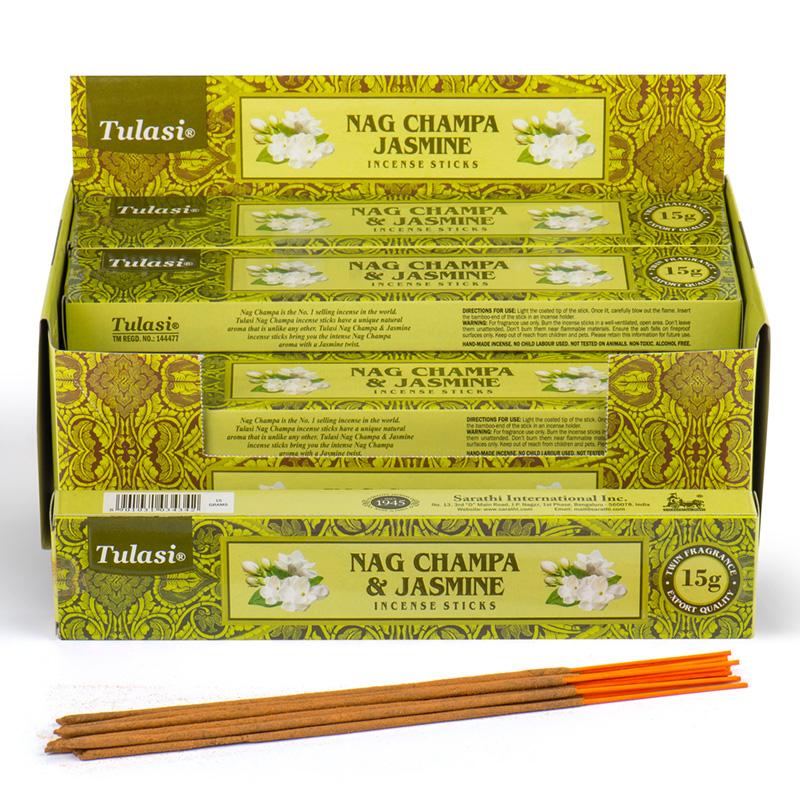 Nag Champa Tulasi Incense Sticks Jasmine