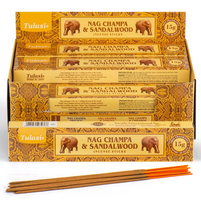 Nag Champa Tulasi Incense Sticks Sandalwood